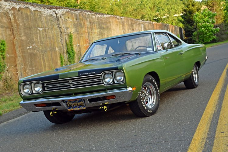 1969 Plymouth Road Runner cars coupe green wallpaper