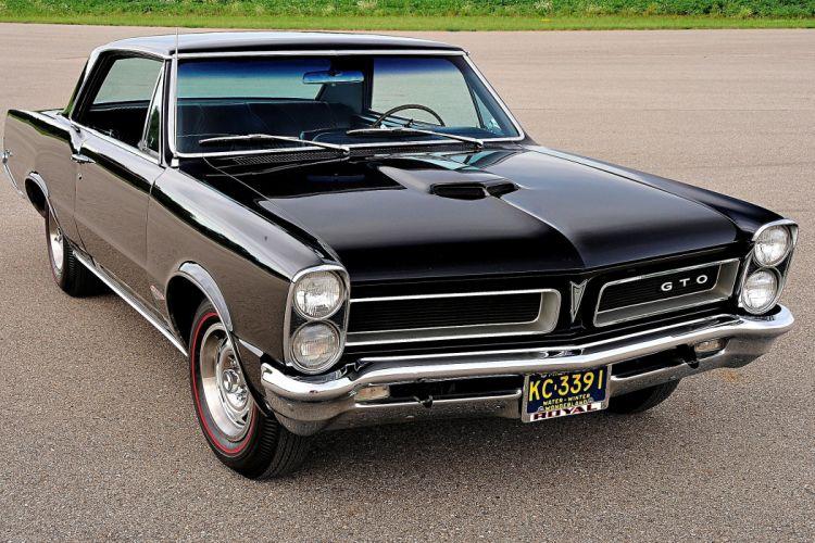 1965 Pontiac GTO cars coupe black wallpaper