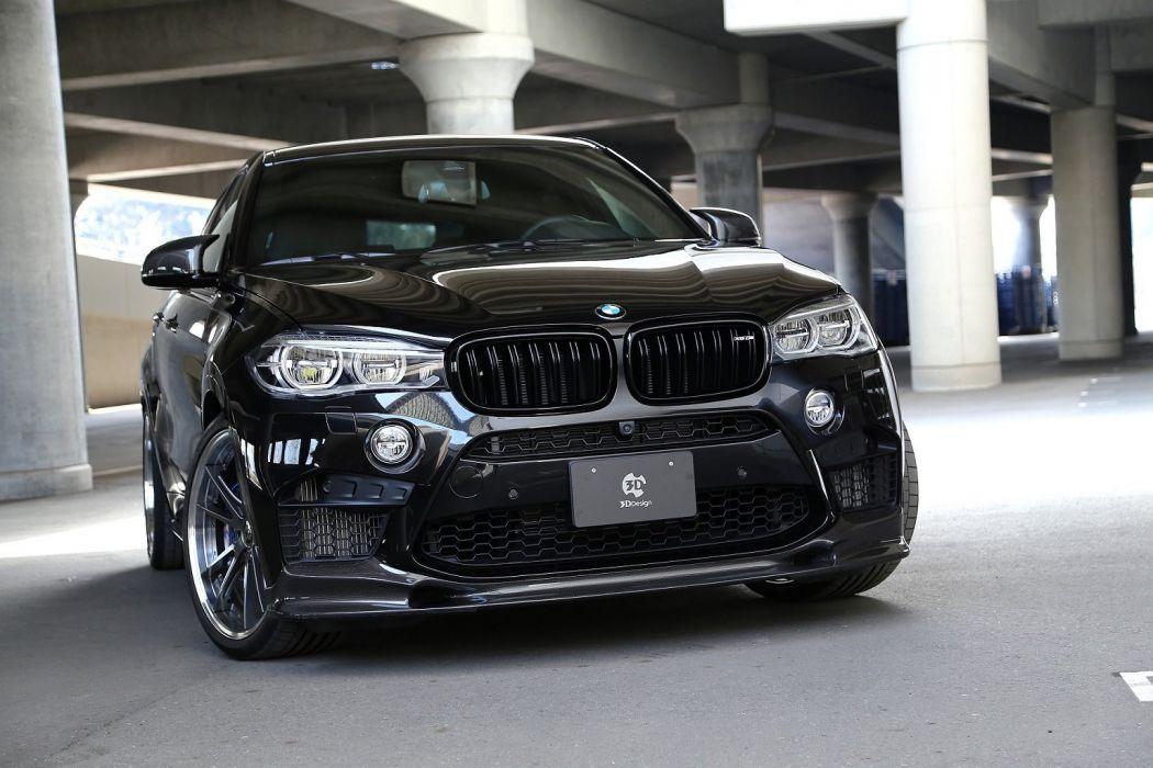 3D-Design BMW X6-M (F16) cars suv modified black 2016 wallpaper