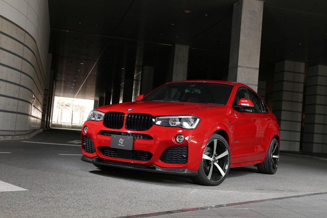 3D-Design BMW-X4 xDrive35i M-Sport (F26) cars suv red 2015 wallpaper