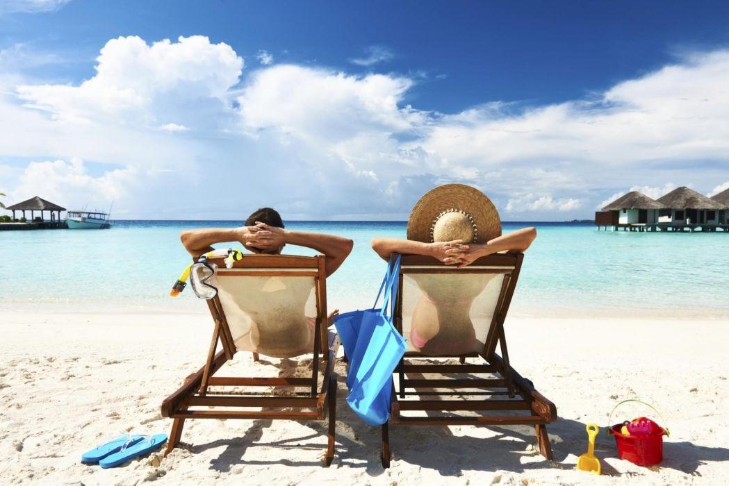 descanso hamacas playa vacaciones wallpaper