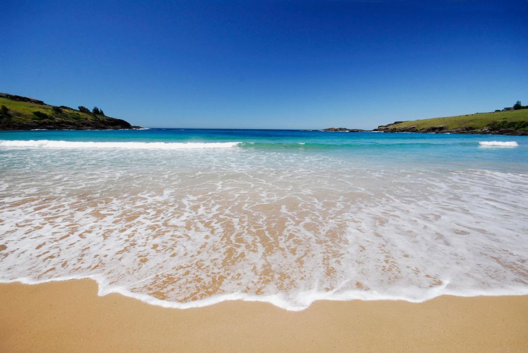 playa mar naturaleza wallpaper