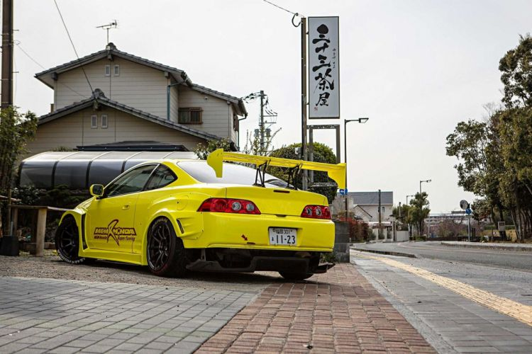 Honda 2006 Integra Type R cars coupe modified yellow wallpaper