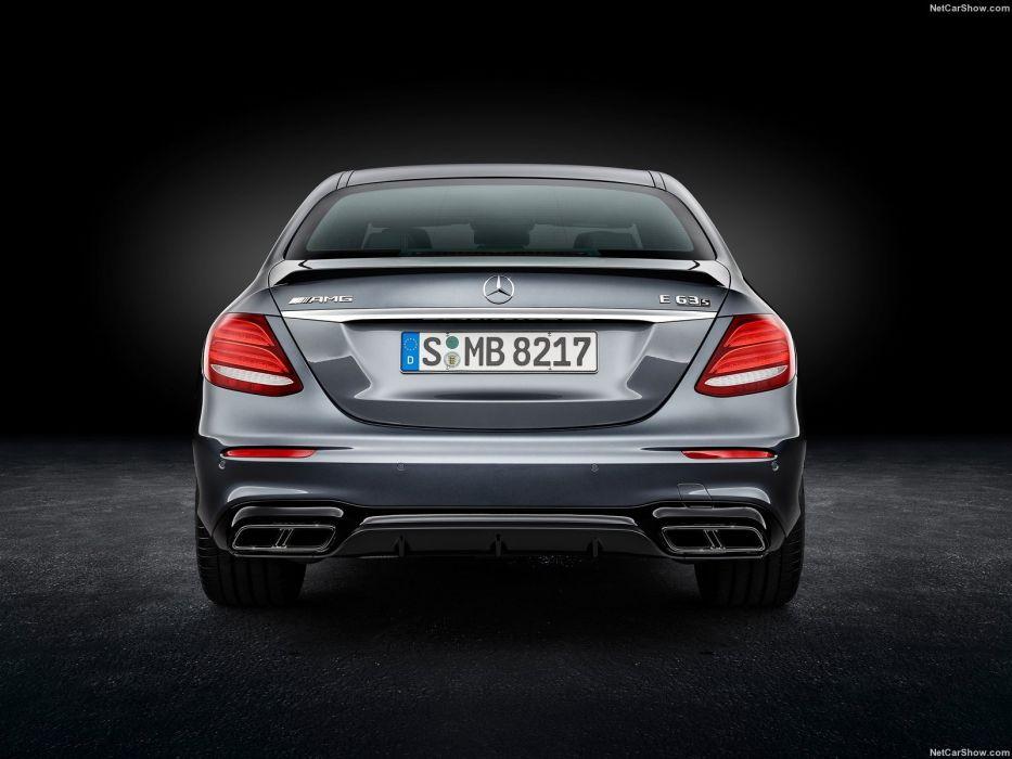 Mercedes Benz E63 AMG cars sedan 2016 wallpaper