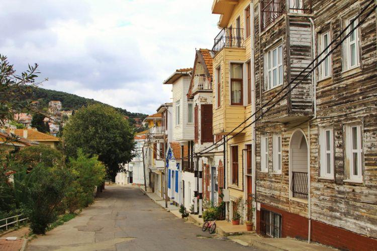 Turkey Heybeliada Landscape Istanbul houses beauty city street wallpaper
