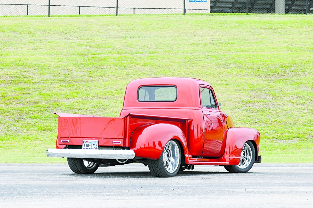 1952 Chevy 3100 pickup red wallpaper