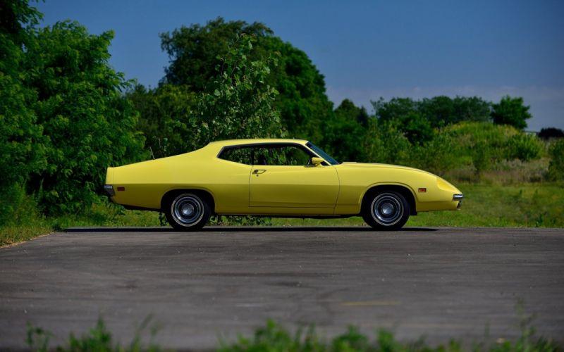 1970 Ford Torino King Cobra cars yellow classic wallpaper