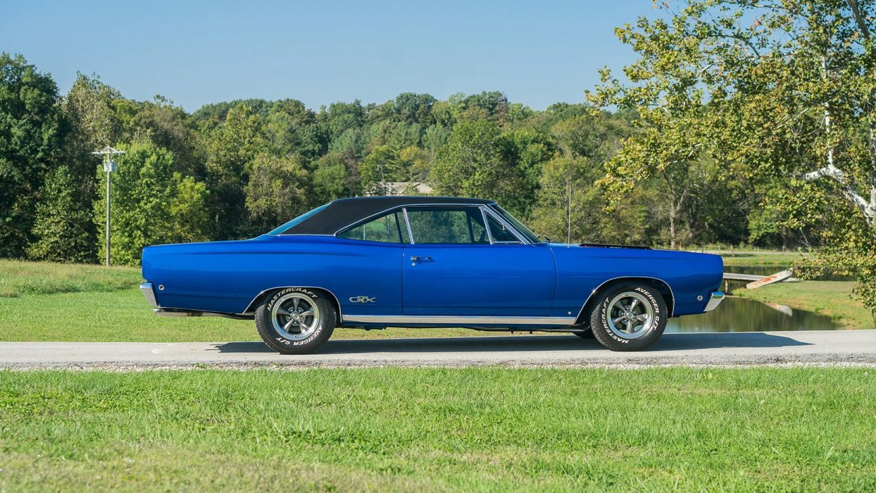 1968 PLYMOUTH GTX blue cars coupe classic wallpaper
