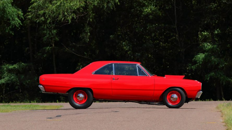 1968 DODGE DART cars coupe classic red wallpaper