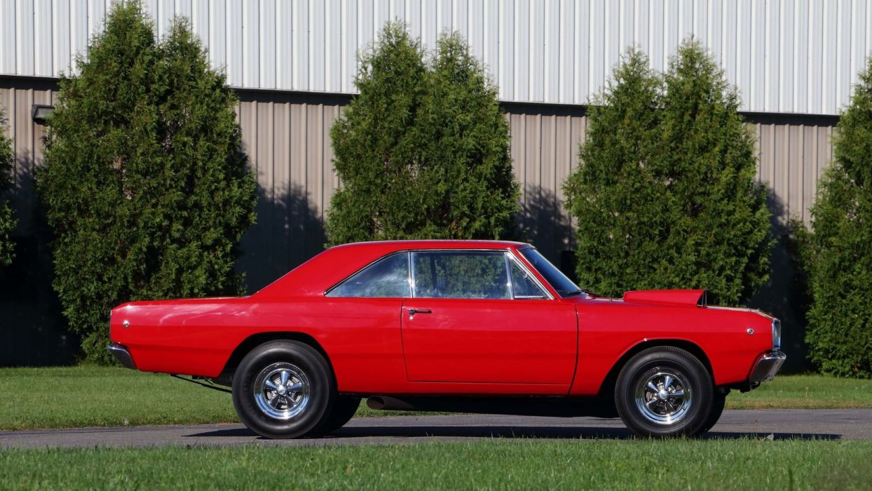 1968 DODGE HEMI DART cars coupe red wallpaper