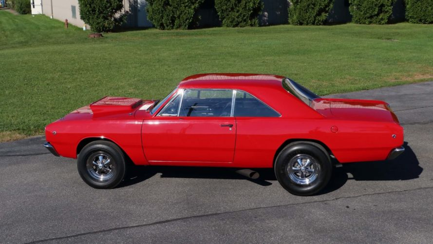 1968 DODGE HEMI DART cars coupe red wallpaper