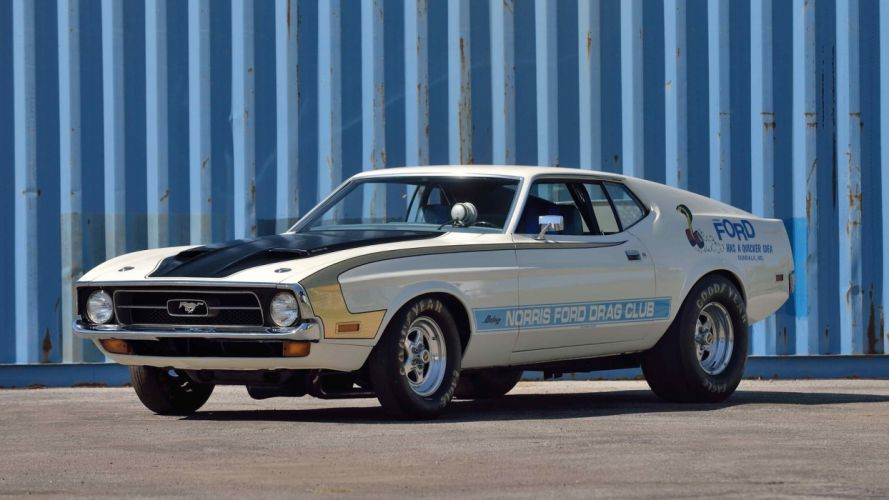 1971 FORD MUSTANG FASTBACK Ram Air 429 Super Cobra Jet cars wallpaper
