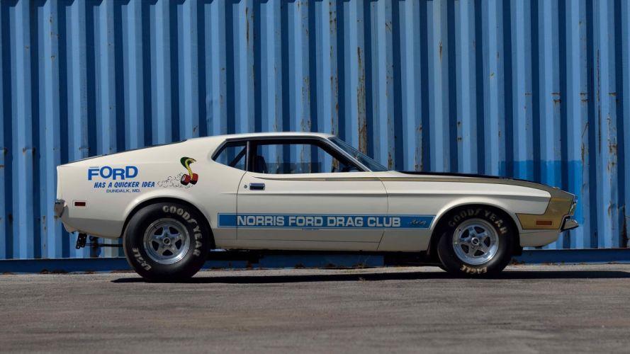 1971 FORD MUSTANG FASTBACK Ram Air 429 Super Cobra Jet cars wallpaper