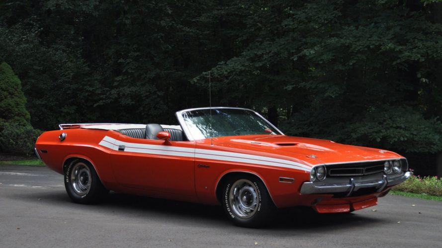 1971 DODGE CHALLENGER CONVERTIBLE cars orange wallpaper