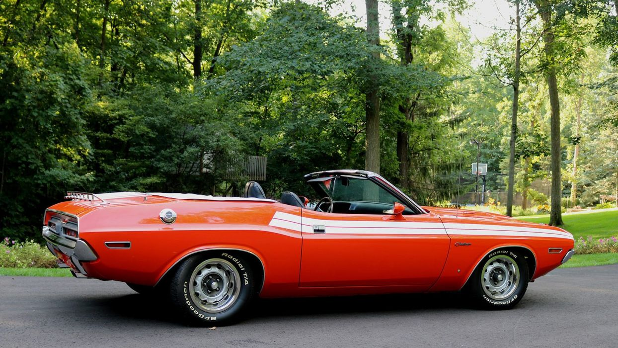 1971 DODGE CHALLENGER CONVERTIBLE cars orange wallpaper