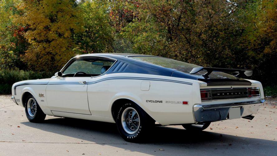 1969 MERCURY CYCLONE SPOILER DAN GURNEY SPECIAL cars coupe white wallpaper