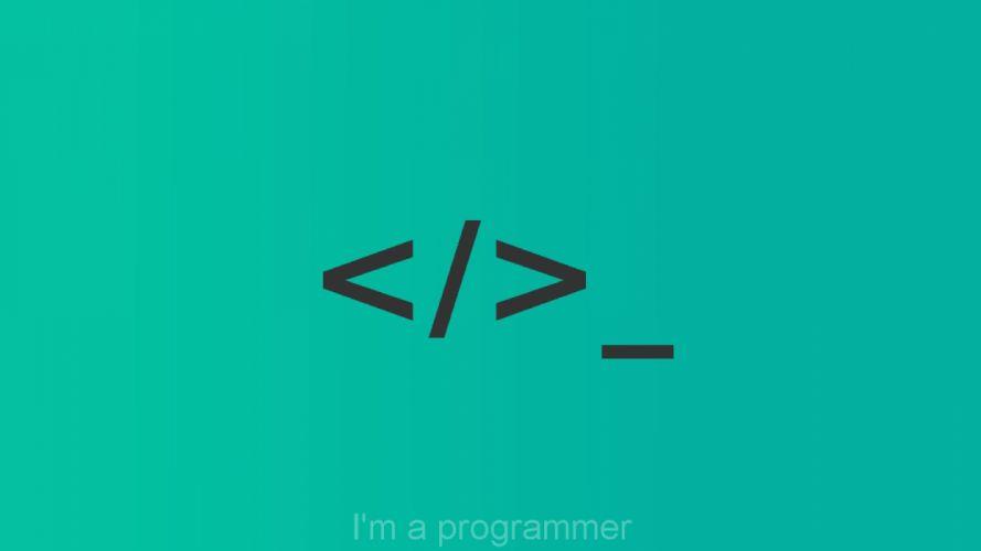 minimalism programming code html terminal simbol logotype wallpaper