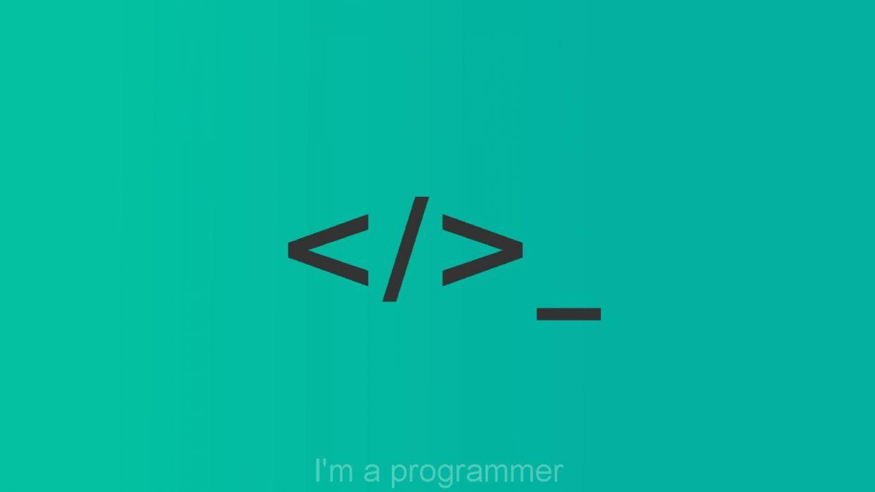Minimalism Programming Code Terminal Simbol Logotype Wallpaper