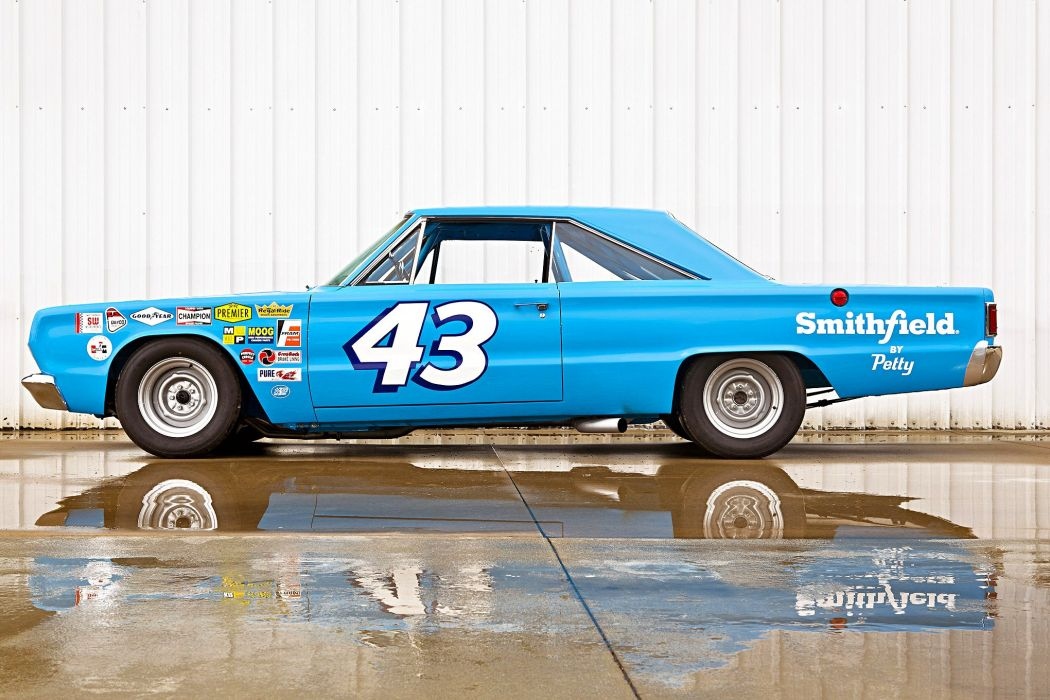 Richard Petty Street Legal 1967 Plymouth Belvedere tribute blue NASCAR cars wallpaper