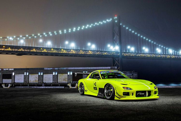 1993 Mazda RX-7 cars bodykit modified yellow wallpaper
