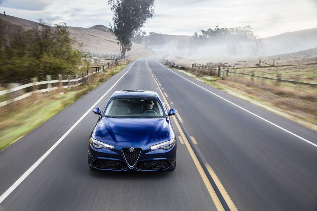 2017 Alfa Romeo Giulia Ti-Q4 cars blue US-version  wallpaper