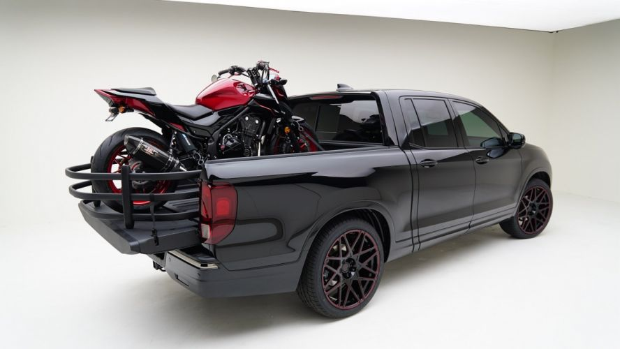 MAD Industries Honda ridgeline cars pickup black SEMA 2016 wallpaper