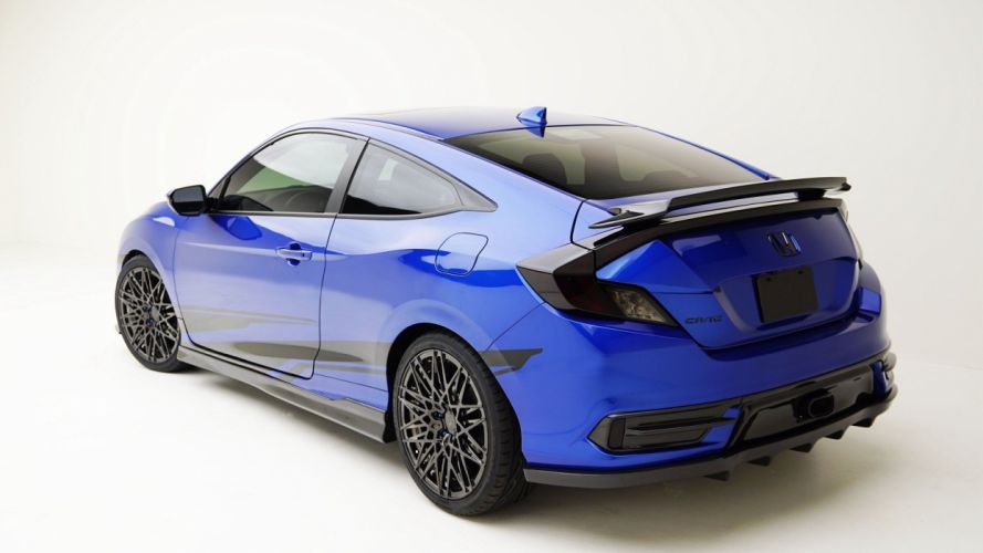 MAD Industries Honda Civic Coupe cars blue SEMA 2016 wallpaper