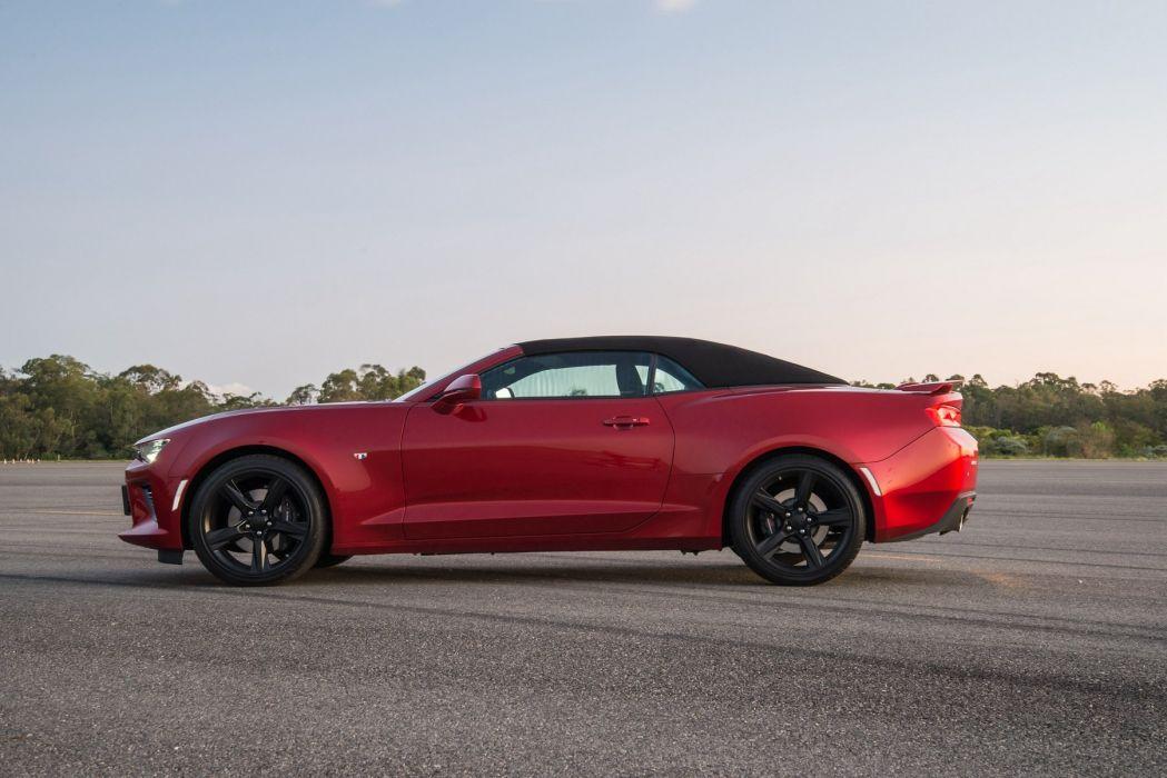 Chevrolet Camaro (SS) Convertible cars red 2016 wallpaper