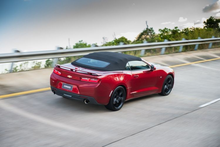 Chevrolet Camaro (SS) Convertible cars red 2016 wallpaper