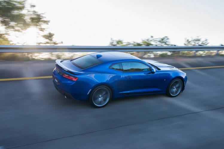Chevrolet Camaro (SS) coupe cars blue 2016 wallpaper