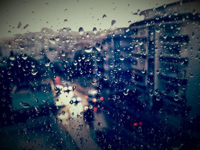 gotas lluvia cristal ciudad wallpaper