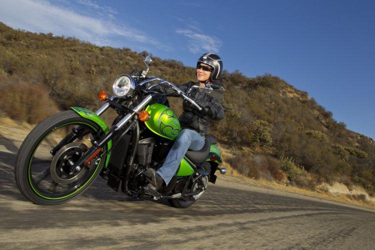 Kawasaki VN-900 custom motorcycles 2011 wallpaper