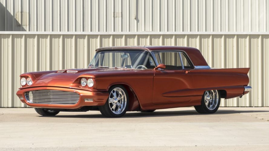 1960 cars classic ford thunderbird Tangerine wallpaper
