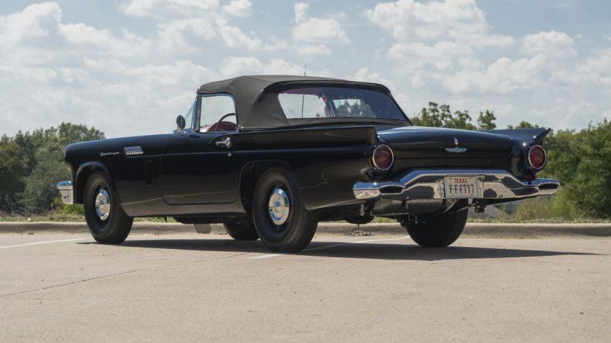 1957 cars classic ford thunderbird black F-BIRD wallpaper