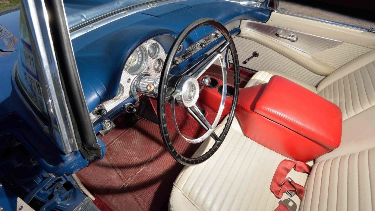 1957 cars classic ford thunderbird Blue wallpaper