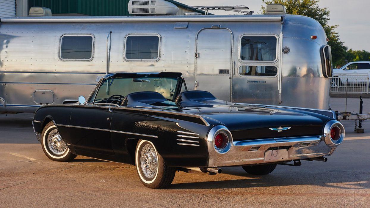 1961 cars classic ford thunderbird black wallpaper