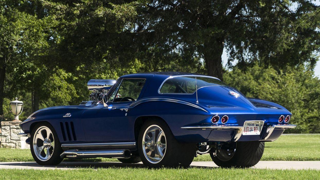 Pro Street Cars >> 1966 Chevrolet Corvette C2 Pro Street Cars Blue Wallpaper