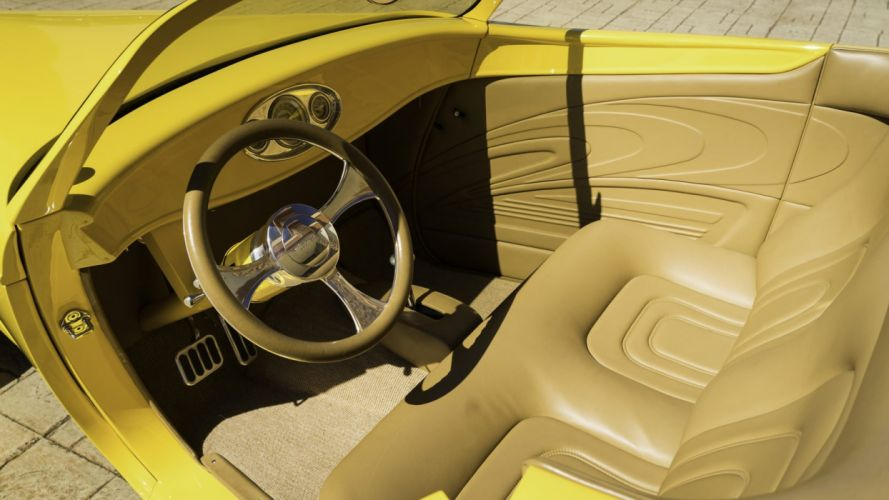 1932 FORD ROADSTER STREET ROD cars yellow wallpaper