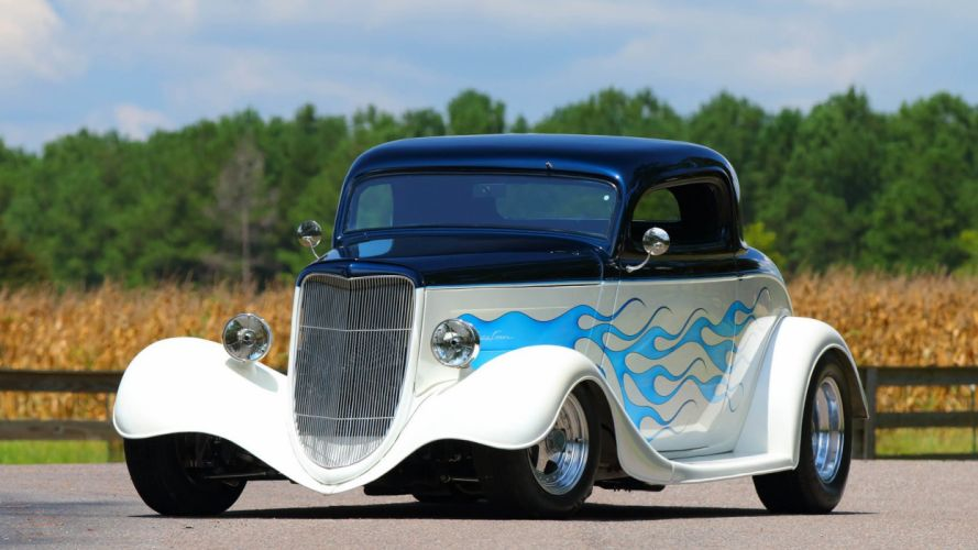 1934 FORD COUPE STREET ROD cars wallpaper