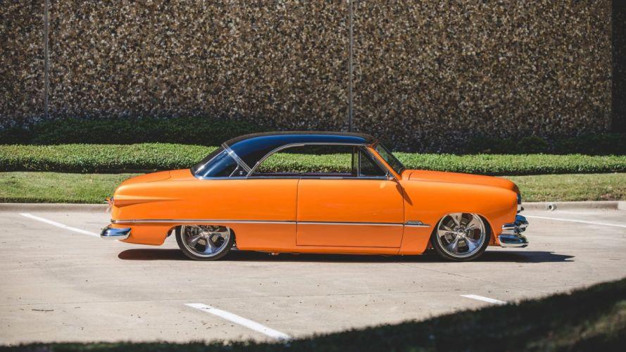 1951 FORD CUSTOM cars orange wallpaper