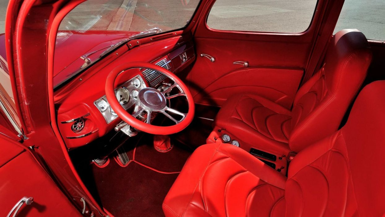 1940 FORD DELUXE cars classic red wallpaper