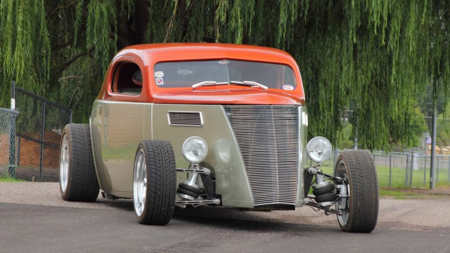 1937 FORD COUPE STREET ROD cars wallpaper
