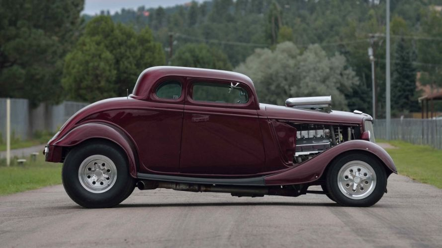1934 FORD 5-WINDOW COUPE STREET ROD cars wallpaper
