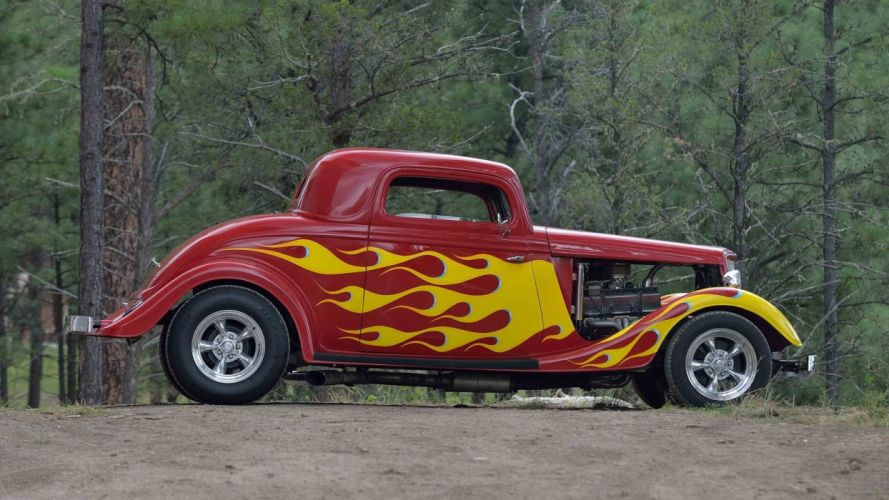 1934 FORD 3-WINDOW COUPE STREET ROD cars wallpaper