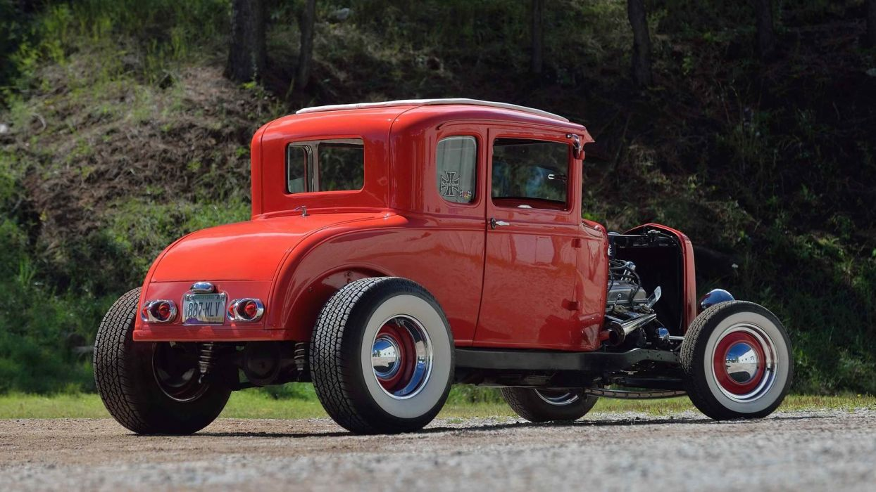 1931 FORD HI-BOY COUPE cars red wallpaper