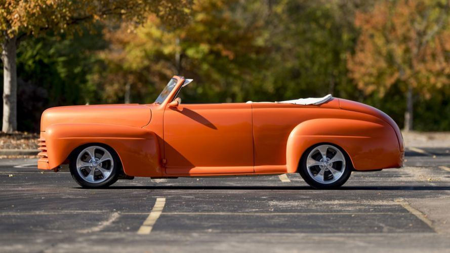 1946 FORD CONVERTIBLE STREET ROD orange cars wallpaper