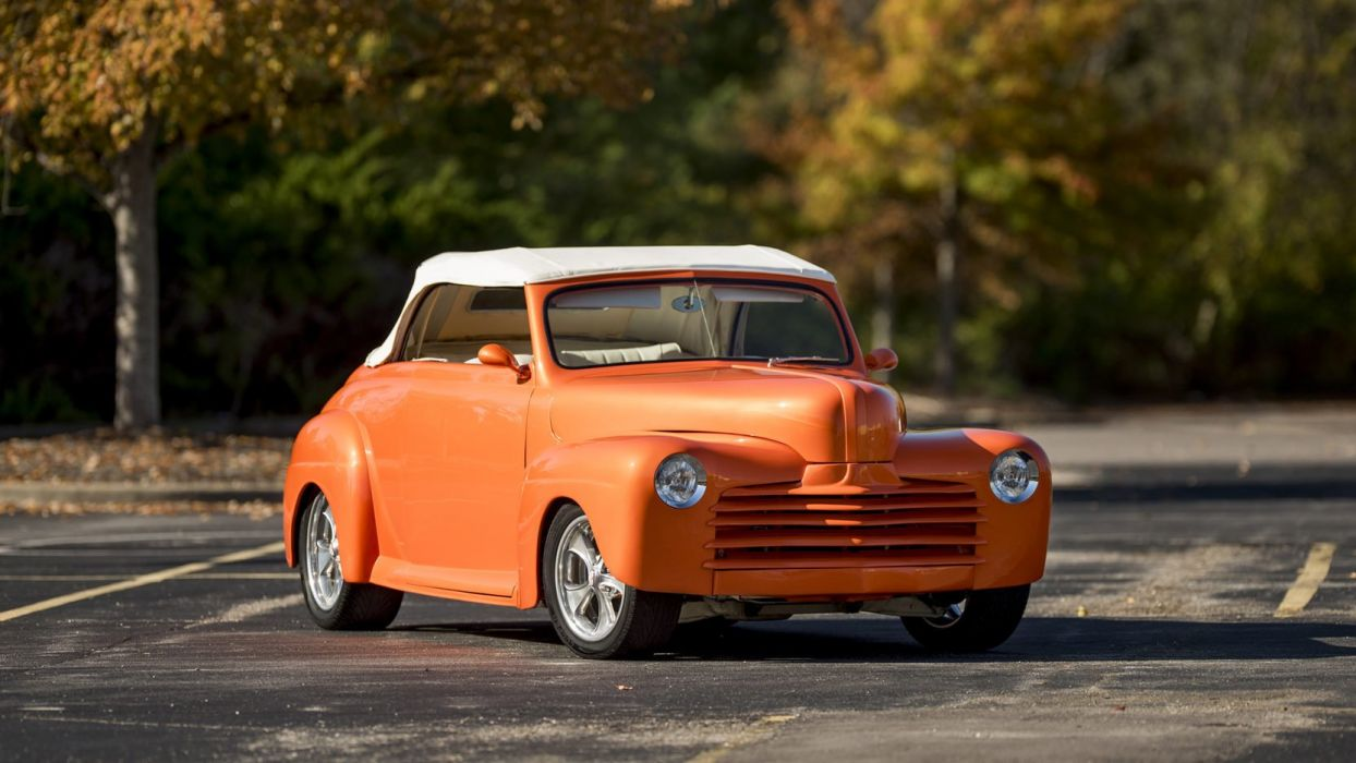 1946 FORD CONVERTIBLE STREET ROD orange cars wallpaper