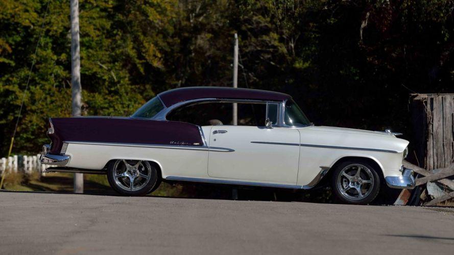 1955 CHEVROLET BEL AIR RESTO MOD cars classic wallpaper