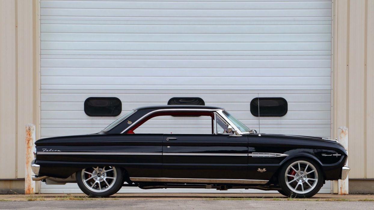 1963 FORD FALCON RESTO MOD cars black wallpaper