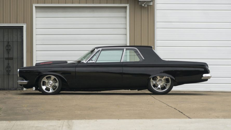 1963 DODGE POLARA RESTO MOD cars black wallpaper